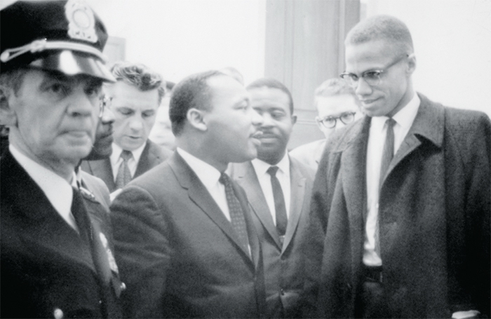 Martin Luther King Jr. and Malcolm X, 1964. Marion S. Trikosko/Library of Congress
