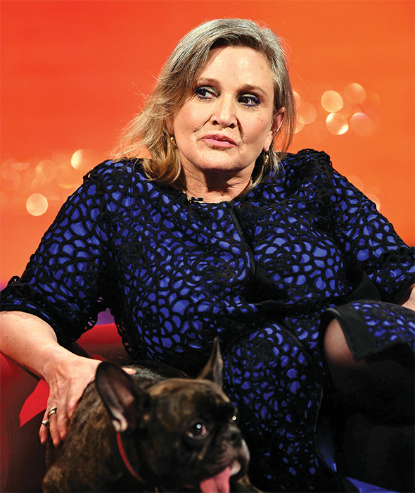 Carrie Fisher, 2015. PA Images/Alamy.