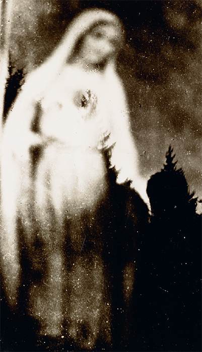 "Photo of an ""atmospheric apparition"" from the book Imponderable: The Archives of Tony Oursler. Courtesy Tony Oursler."