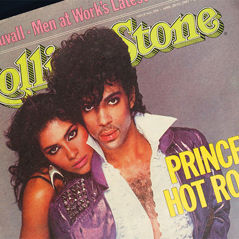 Prince and Vanity on the cover of Rolling Stone, April 28, 1983.
