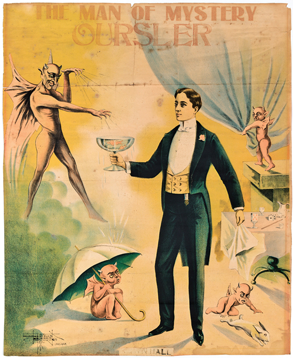 Poster for stage magician Fulton Oursler, ca. 1925.