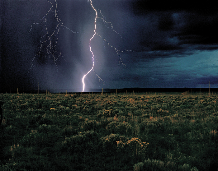 Walter De Maria, The Lightning Field, 1977. John Cliett, © Dia Art Foundation.