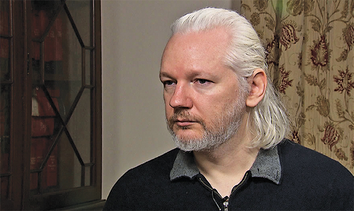 Julian Assange, 2015. Democracy Now!