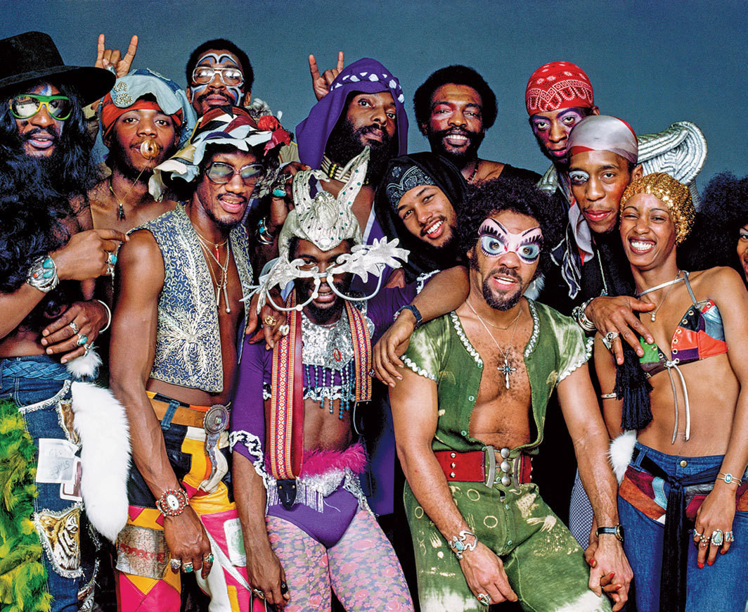 Bruce W. Talamon's photograph of Parliament-Funkadelic, Los Angeles Sports Arena, California, 1977.