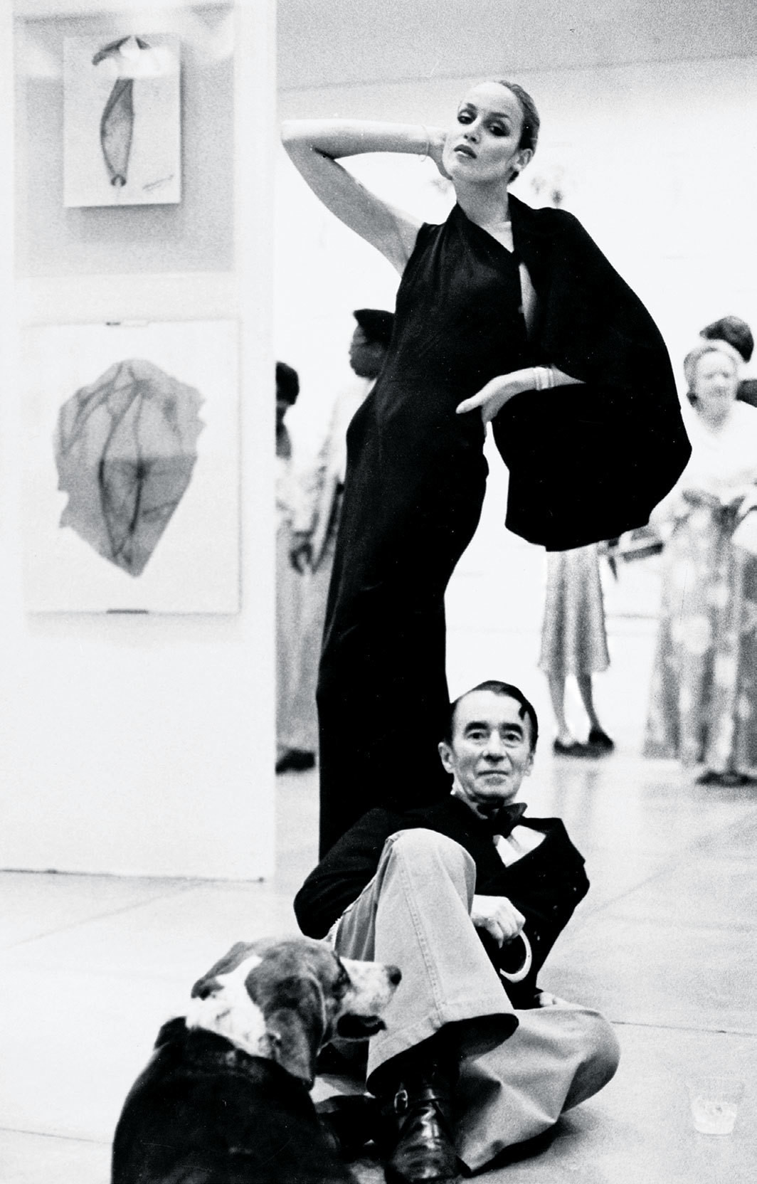 Charles James and Jerry Hall, Everson Museum, Syracuse, New York, 1975.