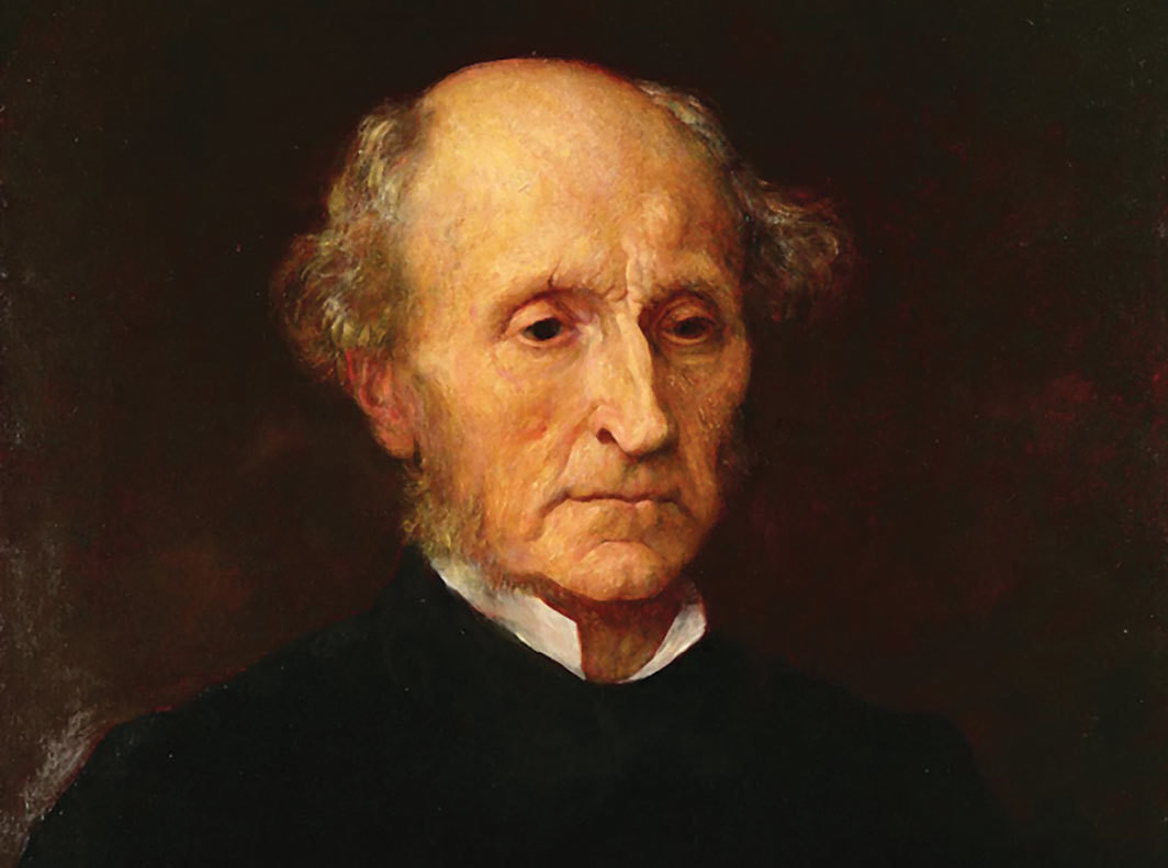 "George Frederic Watts, John Stuart Mill (detail), 1873, oil on canvas, 26 × 21""."