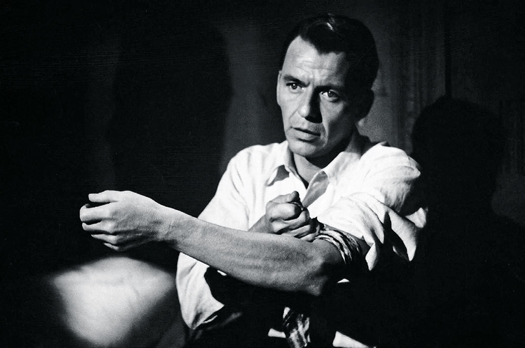 Frank Sinatra in Otto Preminger's The Man with the Golden Arm, 1955.