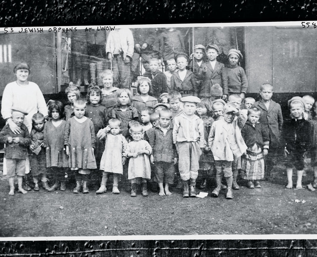 Jewish orphans at the Lwów Ghetto, ca. 1940s.