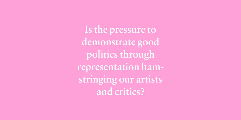 Grappling with pop-culture criticism that uses identity to measure art's moral and political progress. – Joshua Palmer