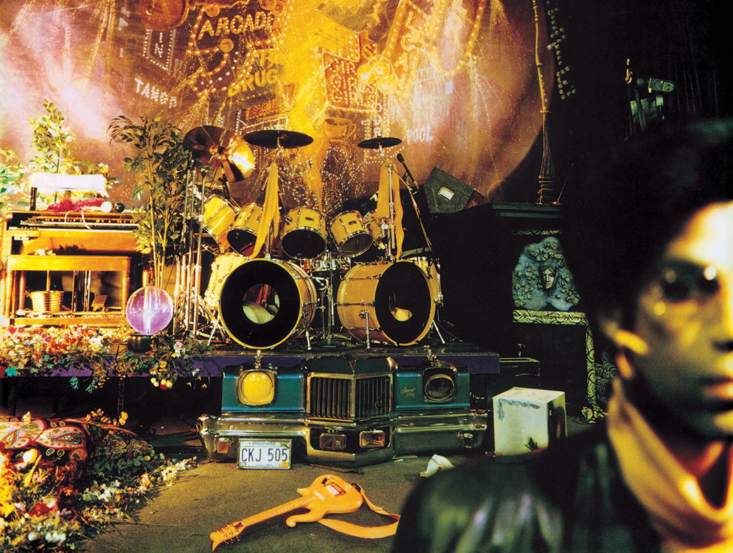 Cover detail of Prince's Sign o' The Times (Paisley Park, 1987).