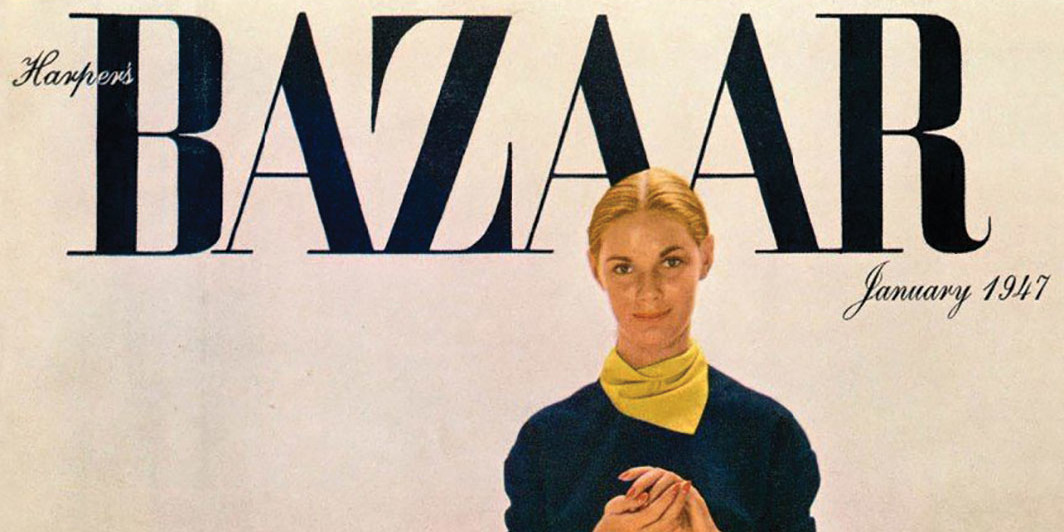 Richard Avedon's cover image for Harper's Bazaar, January 1947. © The Richard Avedon Foundation