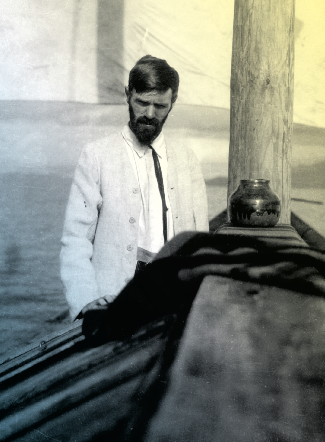 D.H. Lawrence, Lake Chapala, Mexico, 1923. Witter Bynner; Courtesy University of Nottingham Manuscripts and Special Collections
