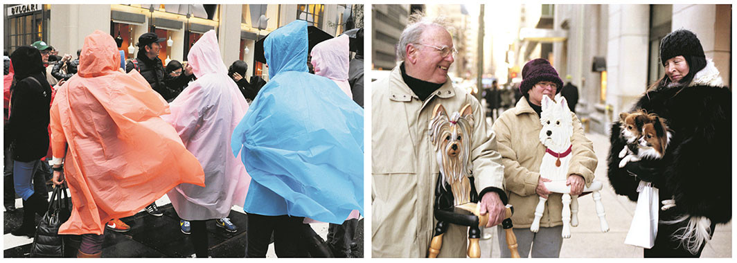 Bill Cunningham's street-style photographs, New York, 2012 and 2009.