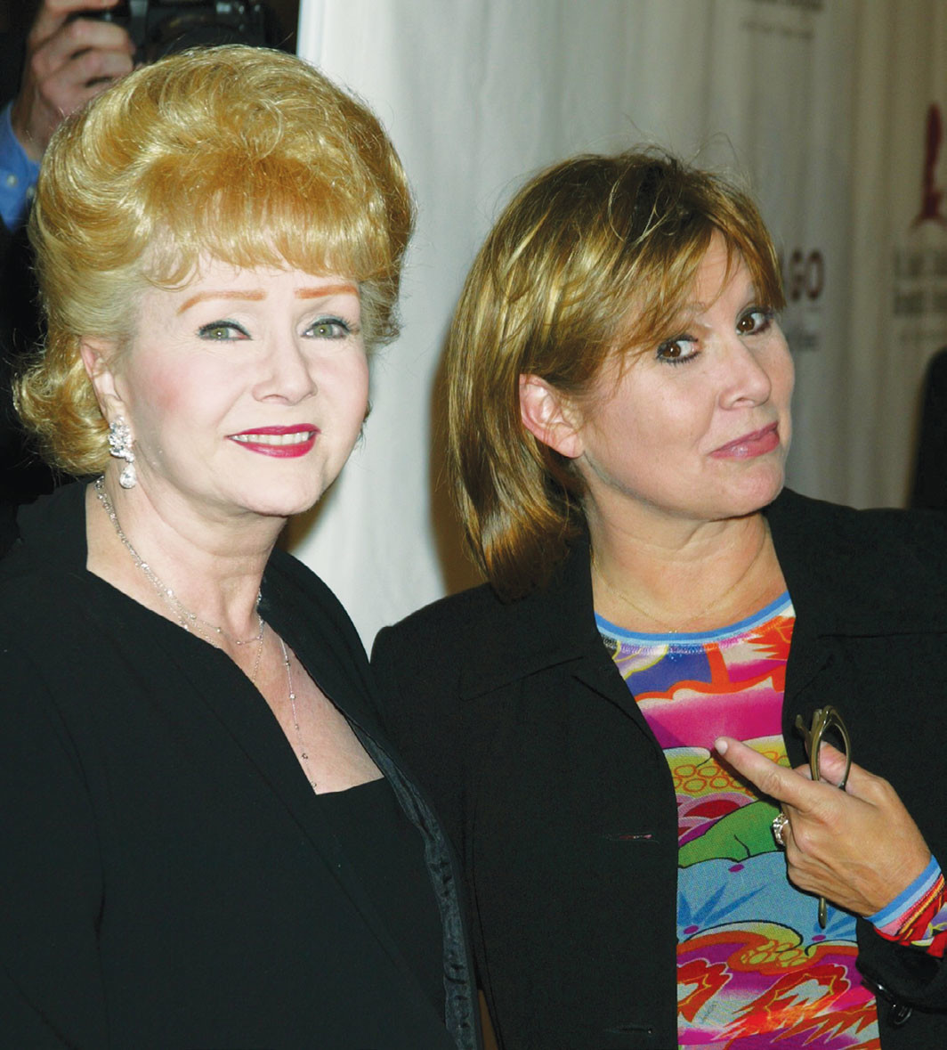 Debbie Reynolds and Carrie Fisher, August 19, 2003. Jim Smeal/BEI/Shutterstock