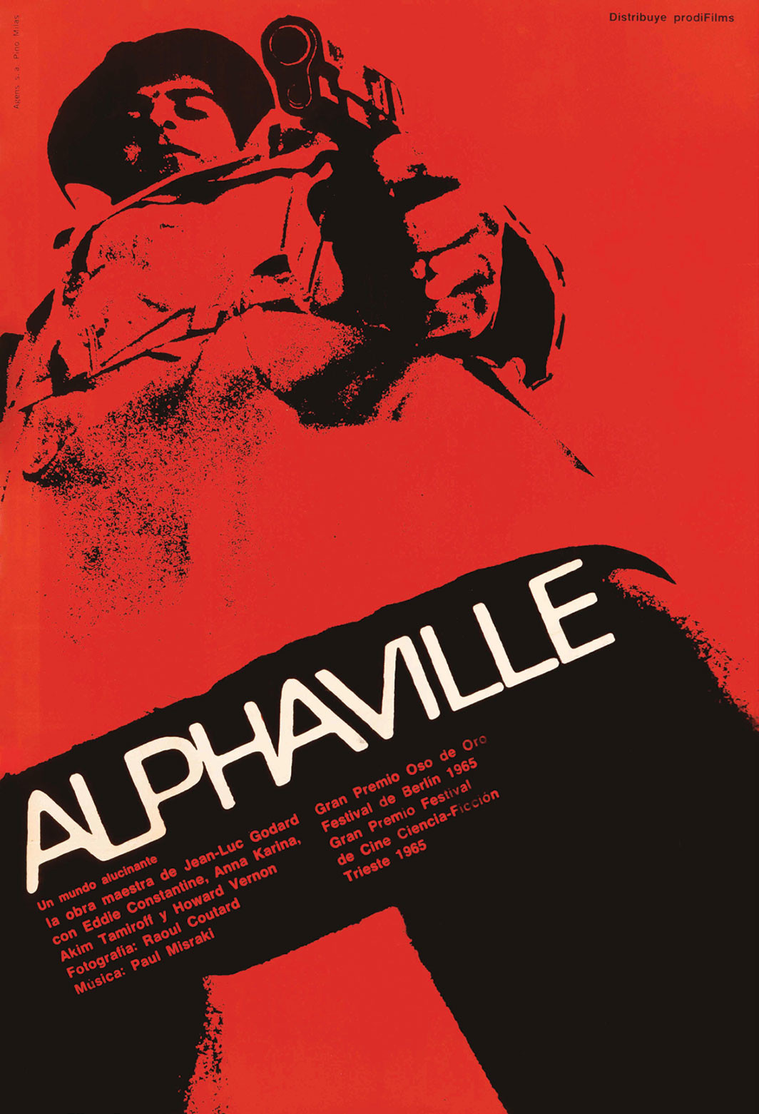 Pino Milas's poster for Jean-Luc Godard's Alphaville, 1965. From French New Wave: A Revolution in Design. © French New Wave Collection
