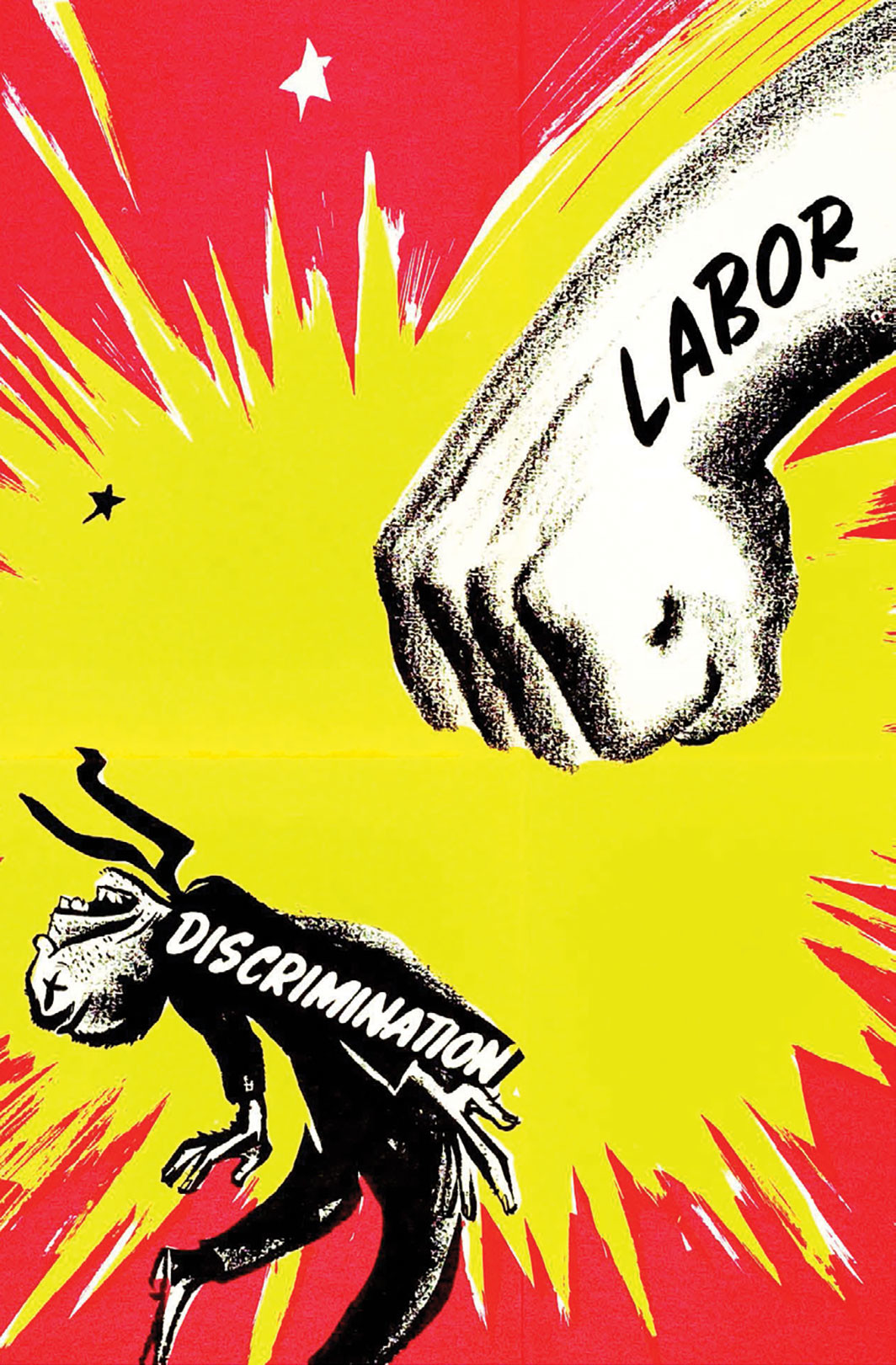 Congress of Industrial Organizations' Committee to Abolish Discrimination poster, 1951. Bernard Seaman/Tamiment Library, NYU