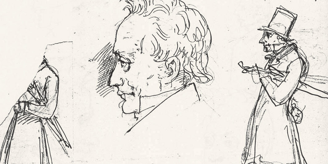 Sketches of Søren Kierkegaard, ca. 1870. Wilhelm Marstrand/Royal Danish Library