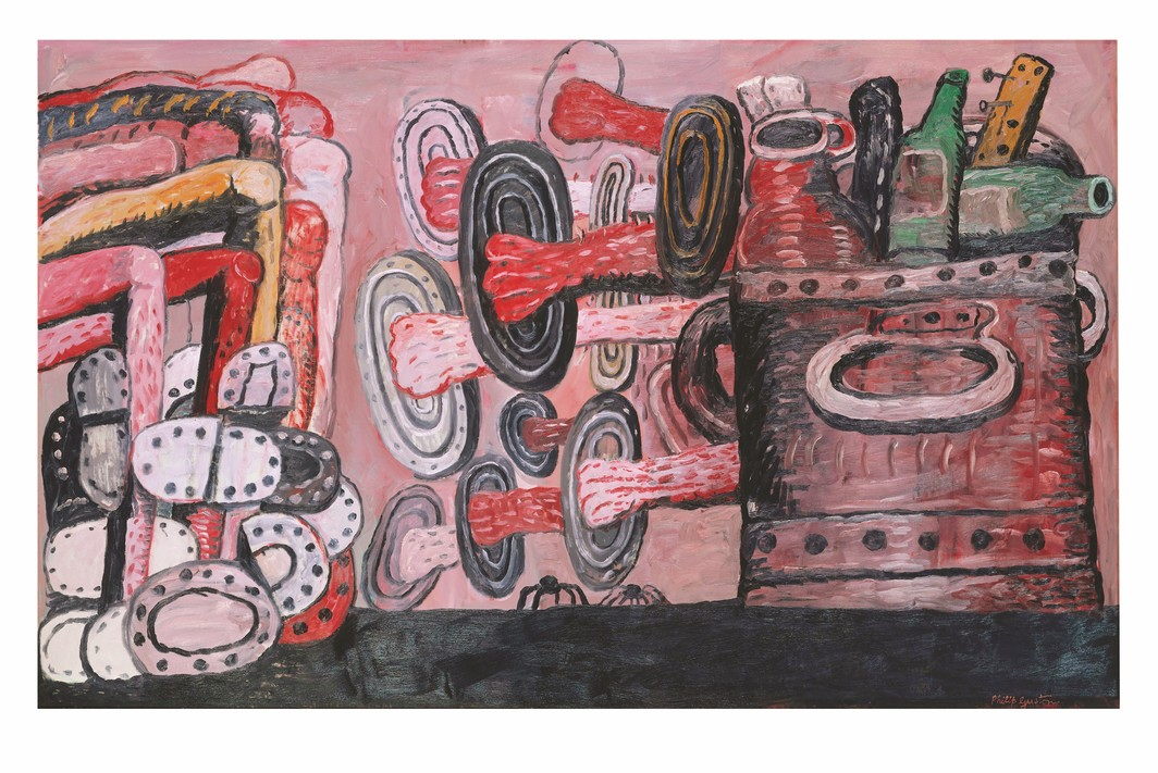 "Philip Guston, The Street, 1977, oil on canvas, 69 × 110 ¾""."