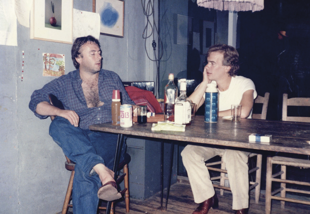 Christopher Hitchens and Martin Amis, Cape Cod, Massachusetts, 1975. From Christopher Hitchens's Hitch-22: A Memoir (Twelve Books, 2011)