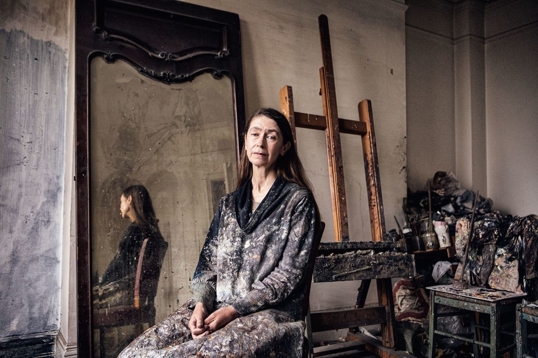 Celia Paul in her studio, London, 2019.