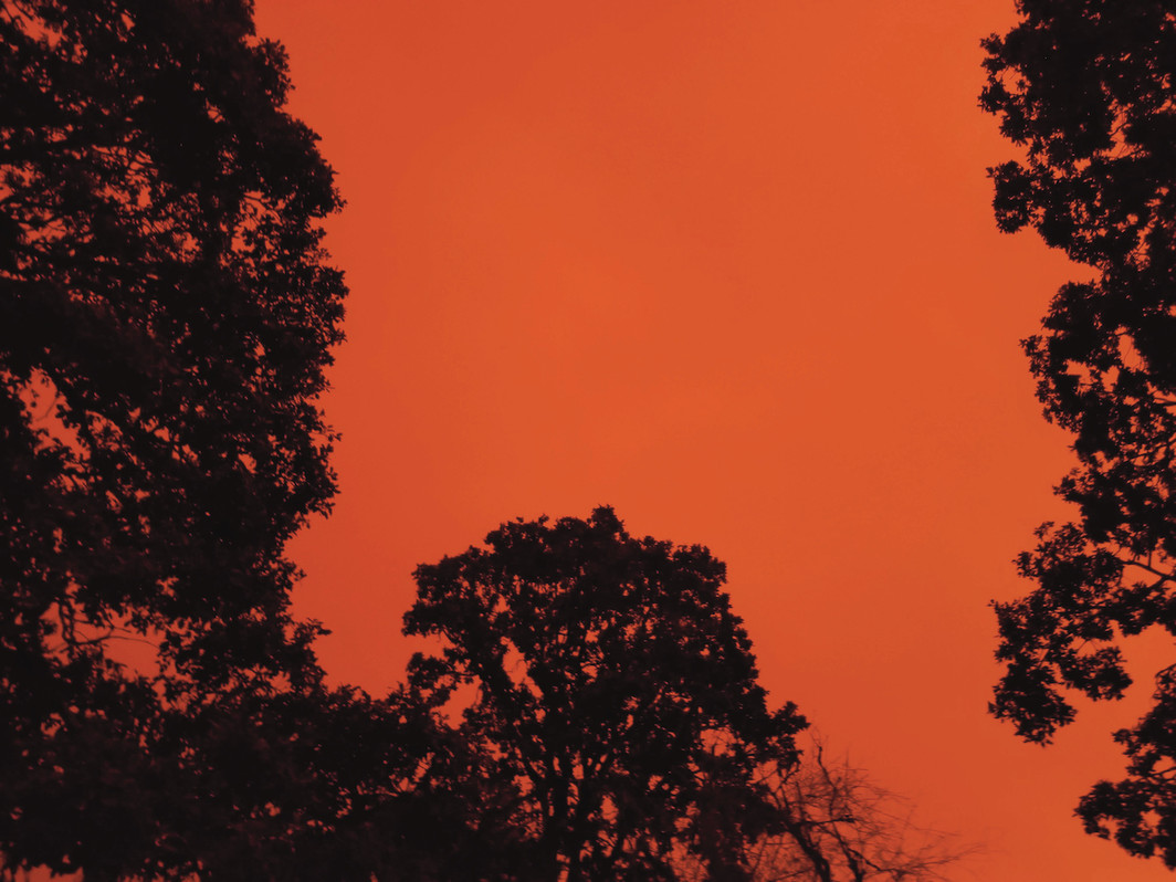 Smoke particles from West Coast wildfires alter the sky's colors, Oregon, September 8, 2020.
