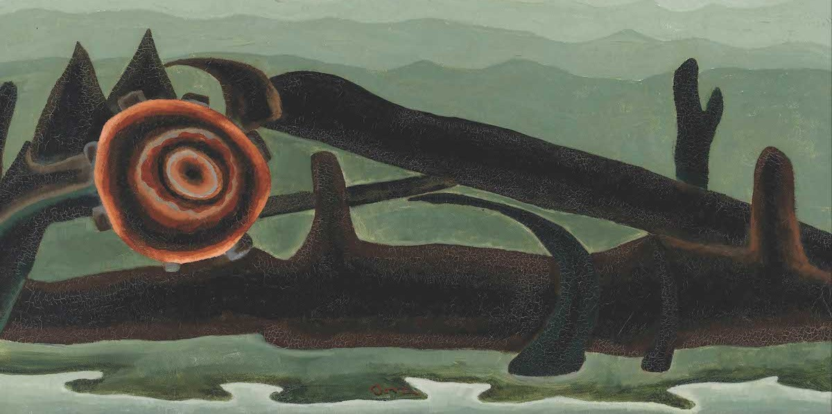 "Arthur Dove, Ferry Boat Wreck, 1931, oil on canvas, 18 × 30""."