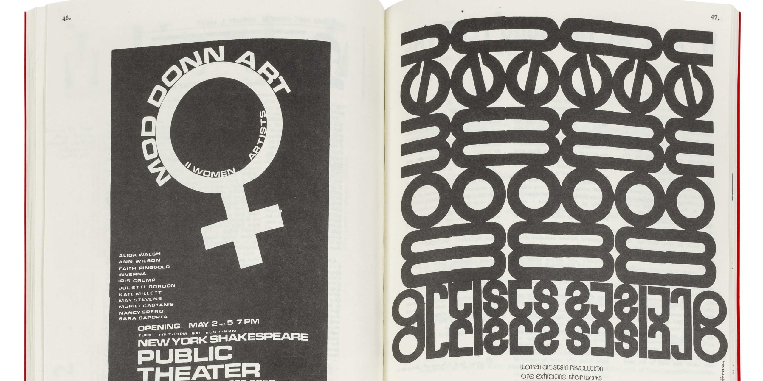 Spread from A Documentary HerStory of Women Artists in Revolution.